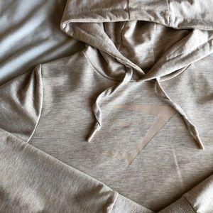 Gymshark cream sweatshirt with open back